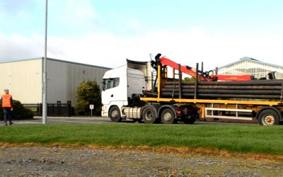 First Delivery of Poles